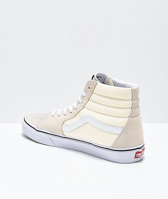 vans beige sk8 hi
