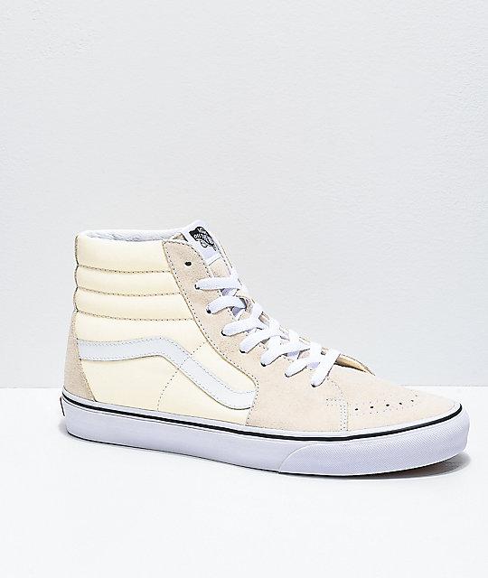 vans beige high