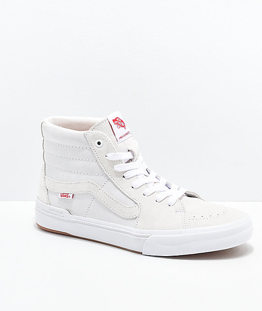 ea1f7ffef86 Vans Sk8-Hi Cranmer Pro White Skate Shoes