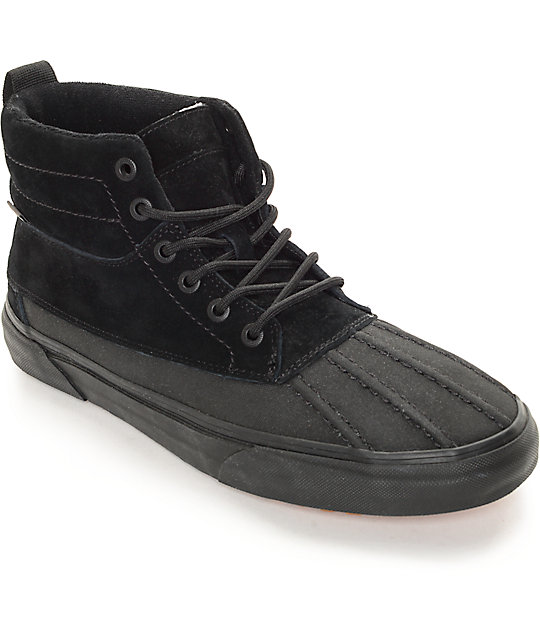 5b4590659943 Vans Sk8-Hi Del Pato MTE Black Monochromatic Shoes