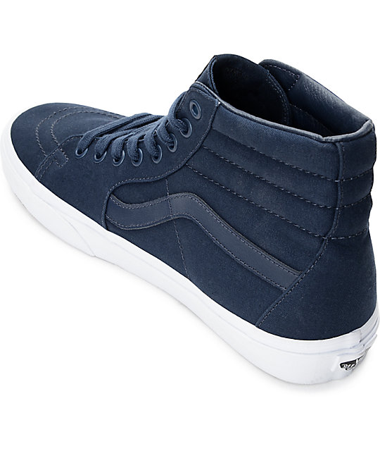 ... Vans Sk8-Hi Dress Blue   White Skate Shoes ... 8097b6ed65
