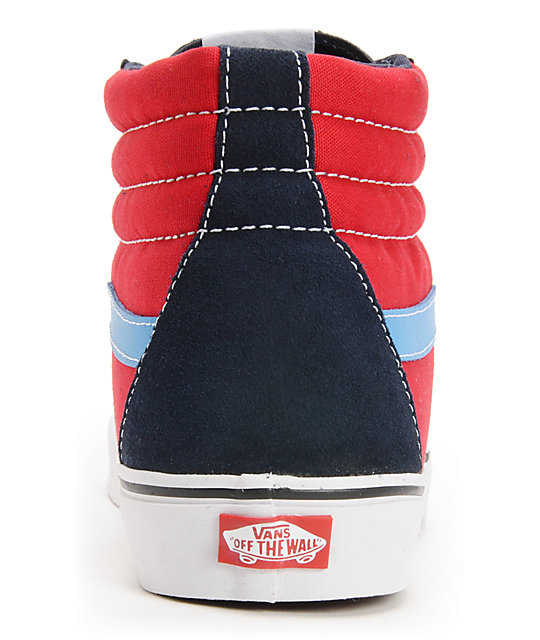 Vans Sk8-Hi Dress Blues & Chilli Pepper Skate Shoes