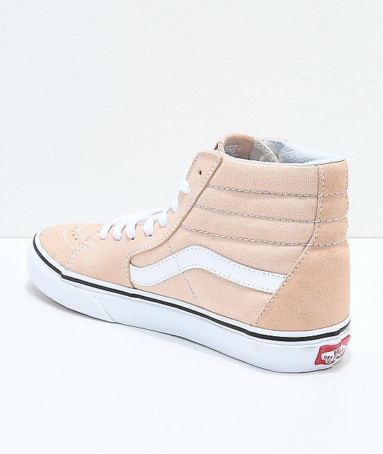 647e6ceafc83fc ... Vans Sk8-Hi Frappe   True White Suede Shoes ...