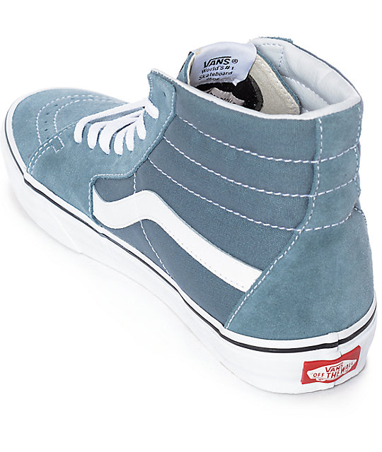 Vans Sk8-Hi Goblin Blue-Grey & White Skate Shoes