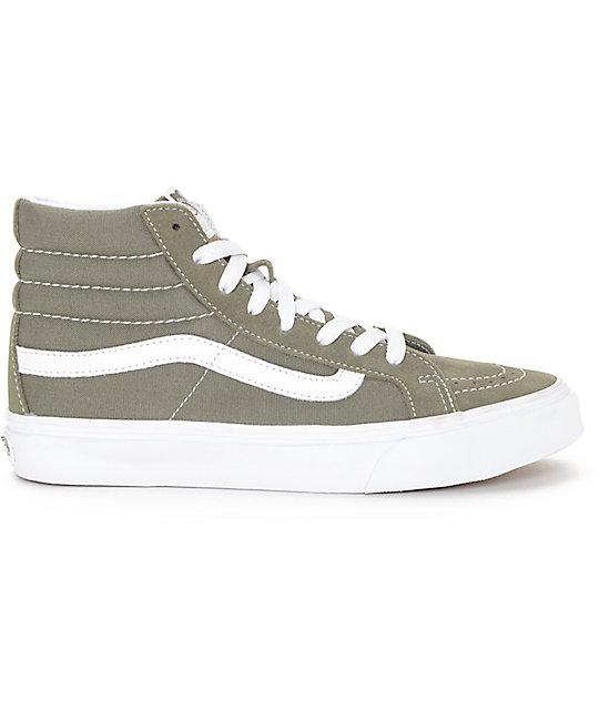 96af89394a ... Vans Sk8-Hi Grapeleaf Olive Womens Skate Shoes