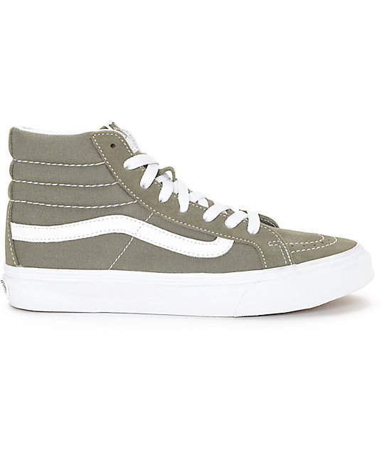 Zapatos beige Vans SK8-Hi para mujer OVxaGkRk