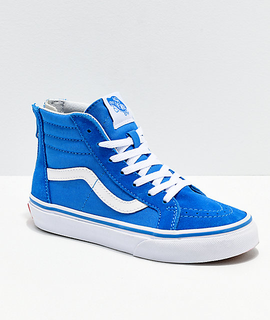 5092a98991 Vans Sk8-Hi Indigo   White Shoes