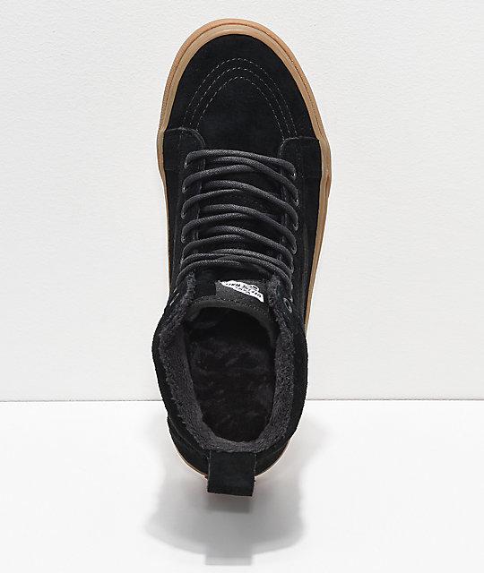 79124435514df Vans Sk8-Hi MTE Black & Gum Shoes | Zumiez.ca