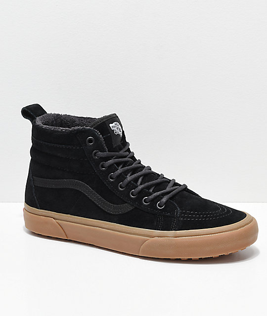 18654c43d51371 Vans Sk8-Hi MTE Black   Gum Shoes