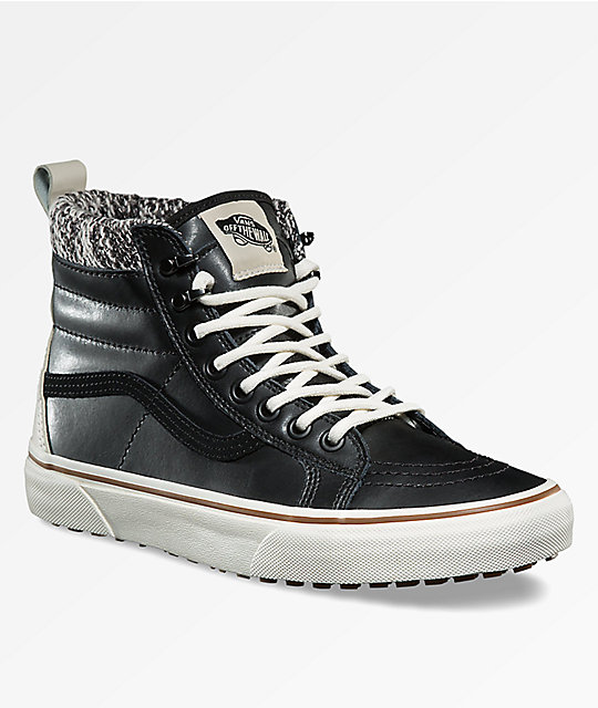 332197b138 Vans Sk8-Hi MTE Black   Marshmallow Shoes