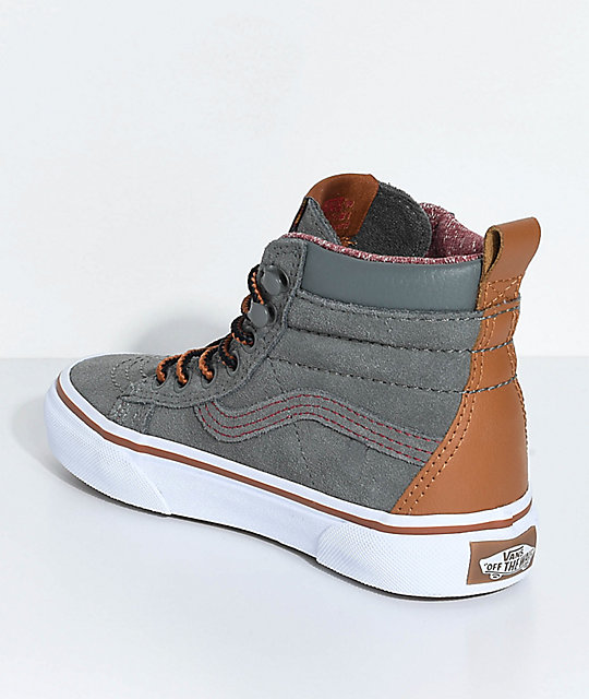 ab2f09699d2 ... Vans Sk8-Hi MTE Castor Grey Shoes ...