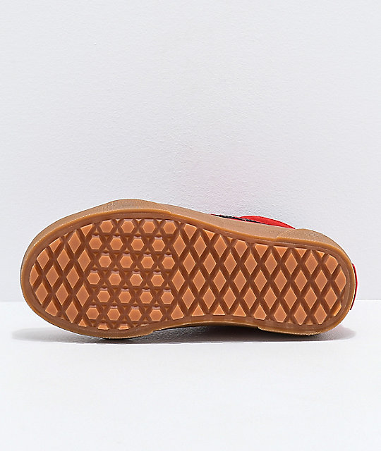 87f45eec28a ... Vans Sk8-Hi MTE Checkerboard   Red Shoes