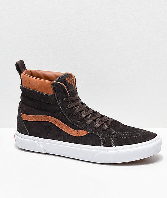 12b994948e Vans Sk8-Hi MTE Chocolate   White Shoes
