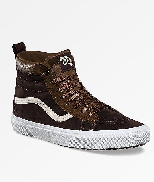 8058236f64 Vans Sk8-Hi MTE Dark Earth   Seal Brown Shoes