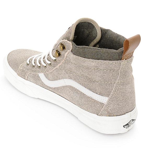 71605d184741d9 ... Vans Sk8-Hi MTE Denim Suede Skate Shoes ...