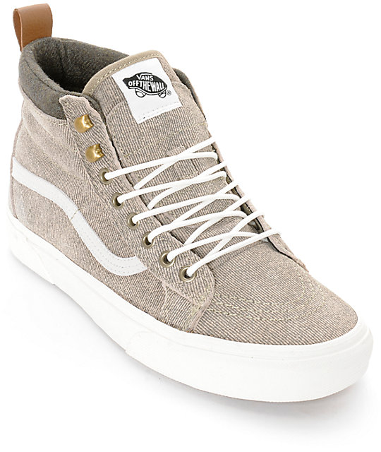 c56c922a0f Vans Sk8-Hi MTE Denim Suede Skate Shoes