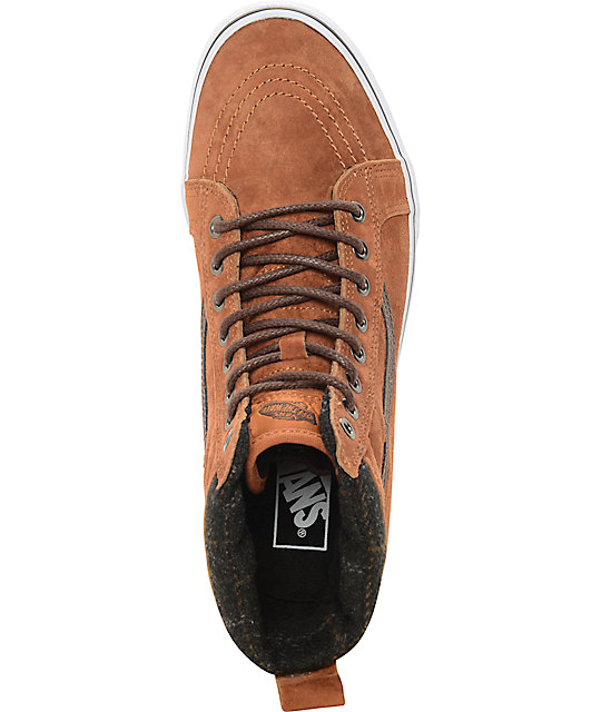 daad0a6690 ... Vans Sk8-Hi MTE Glazed Ginger and Plaid Shoes ...