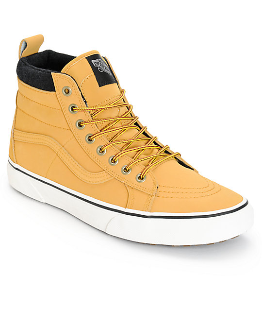 7169273b618588 Vans Sk8-Hi MTE Leather Skate Shoes