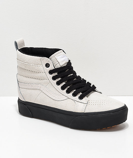 Vans Sk8-Hi MTE Moonbeam   Black Platform Shoes  4f38e48d1d1c7