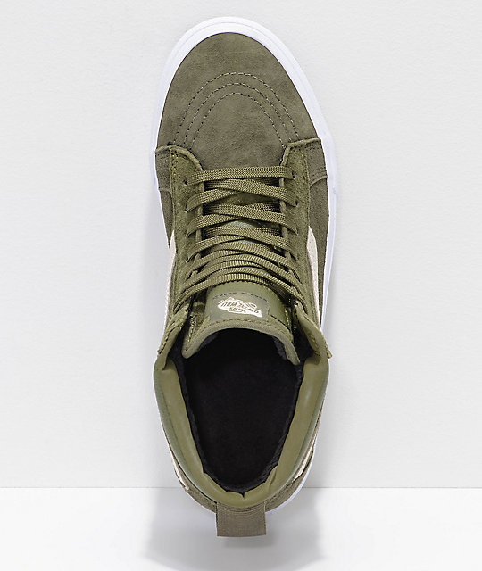 851d34d12 ... Vans Sk8-Hi MTE Moss   Military Green Shoes ...
