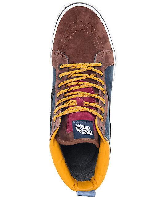2e9614da071 ... Vans Sk8-Hi MTE Multi Cappuccino Skate Shoes ...