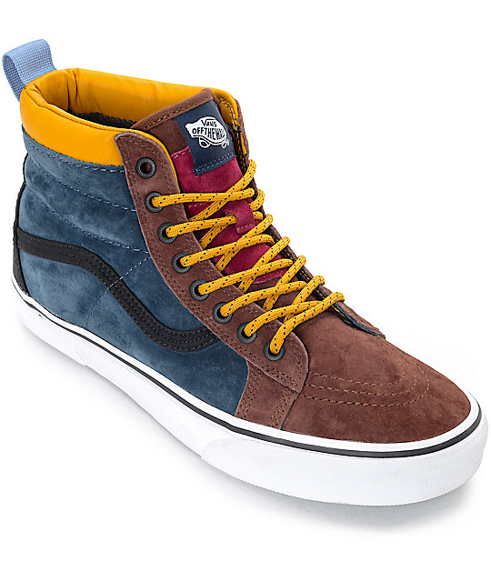 16de5fb6db Vans Sk8-Hi MTE Multi Cappuccino Skate Shoes