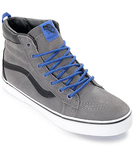 En Zumiez Sk8 Zapatos Gris Hi De Mte Azul Vans Skate Y qYaAWUUn