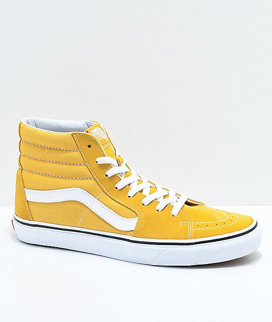 Vans Sk8-Hi Ochre   White Skate Shoes  0b0aa99e4e