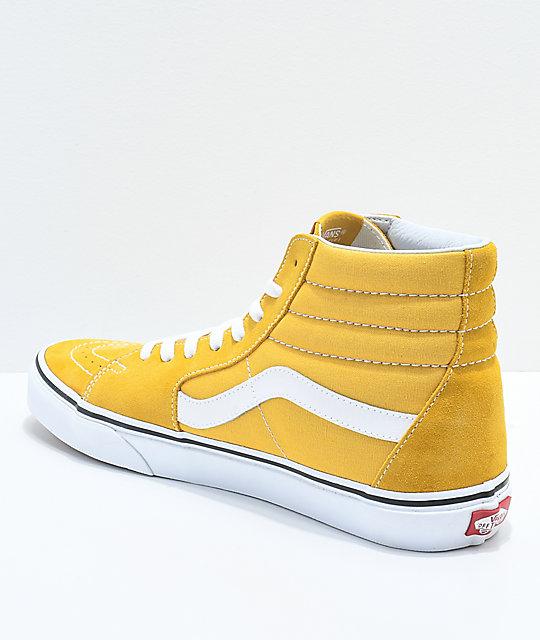 2vans sk8-hi mujer amarillas
