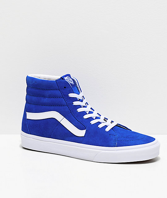 Vans Sk8-Hi Pig Princess Blue Skate Shoes