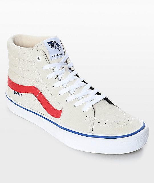 Vans Leder-Sneakers Sk8-Hi in Creme - 50% t0fCIrWqn