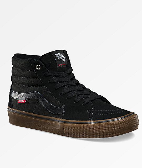 fae7b32cc69 Vans Sk8-Hi Pro Black   Gum Skate Shoes
