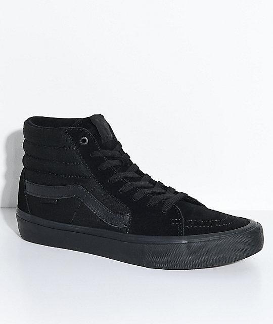 29ee922f06e Vans Sk8-Hi Pro Blackout Skate Shoe