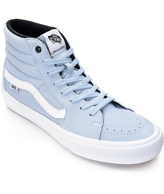 c52a519aec Vans Sk8-Hi Pro Blue Fog Skate Shoes
