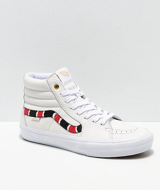 Pro Zapatos Cuero Hi Coral Skate De Vans Sk8 Snake BlancoZumiez 4AjL5Rqc3S