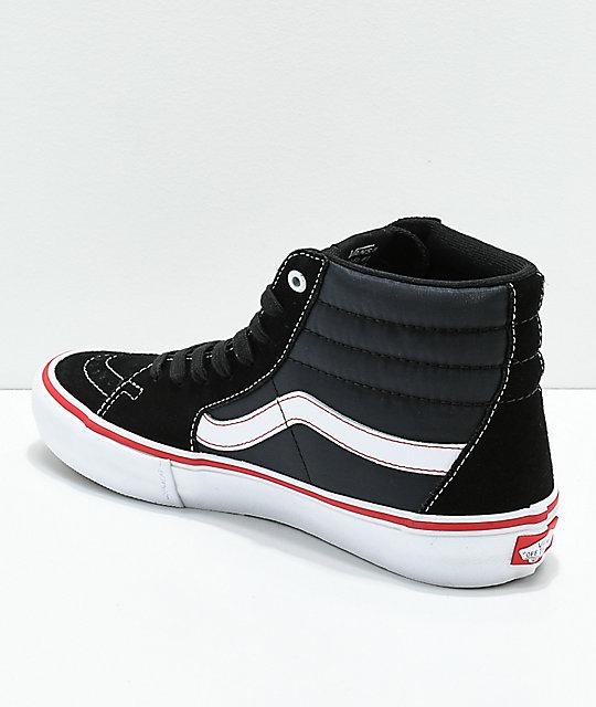 706dfdcb5fbb16 ... Vans Sk8-Hi Pro Lizzie Floral Black   White Skate Shoes ...