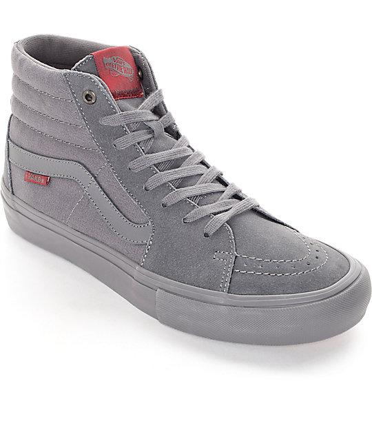 Vans Sk8-Hi Pro Mono Tornado Skate Shoes  16c3faaab361