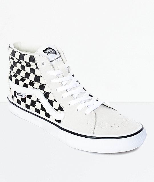 Zapatos blancos Vans SK8-Hi infantiles 60FoGwA