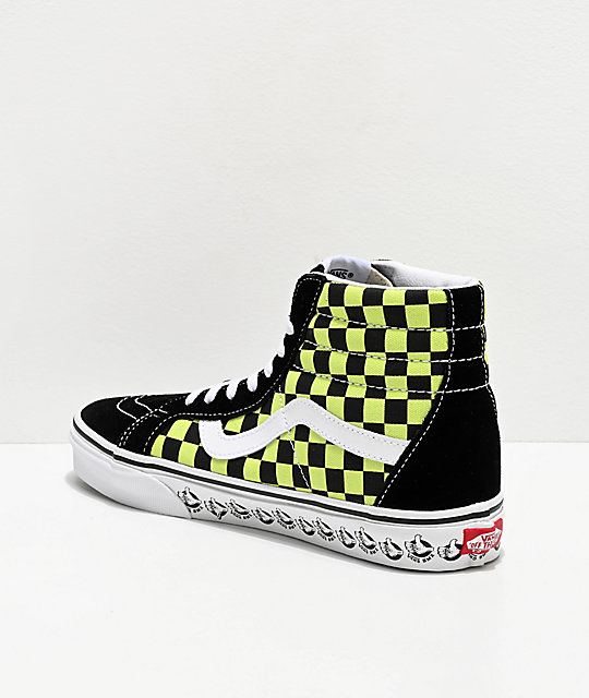 vans sk8 hi checkerboard yellow Limit