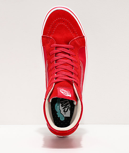Vans Sk8-Hi Reissue ComfyCush Distort Red & White Skate Shoes