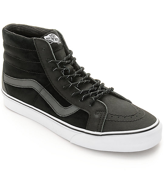 Vans Sk8-Hi Reissue Commuter DX Black Reflective Skate Shoes