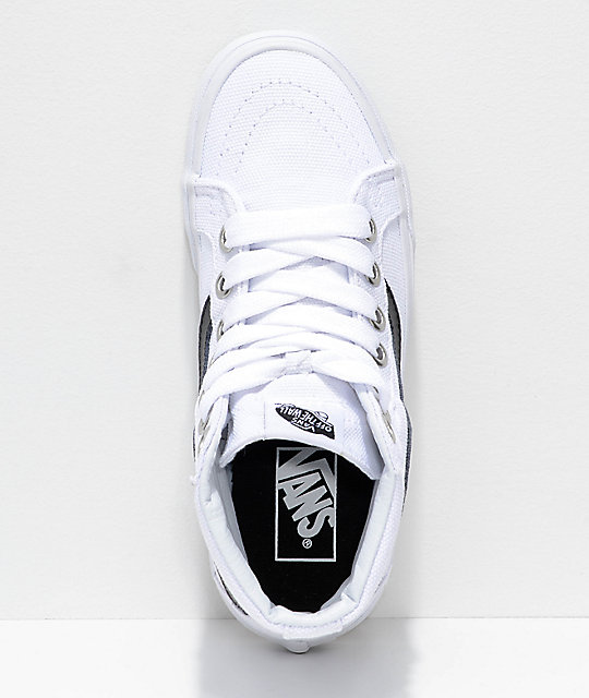 49a0fd75a05b8d ... Vans Sk8-Hi Reissue Oversized Lace Black   White Shoes ...