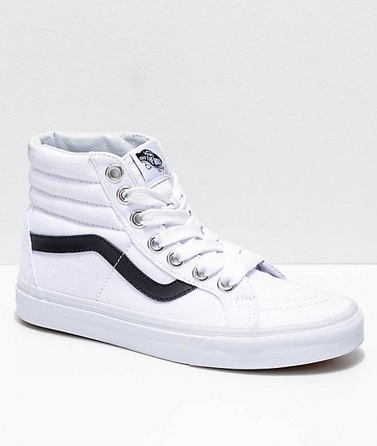 Vans Sk8-Hi Reissue Oversized Lace Black & White Shoes