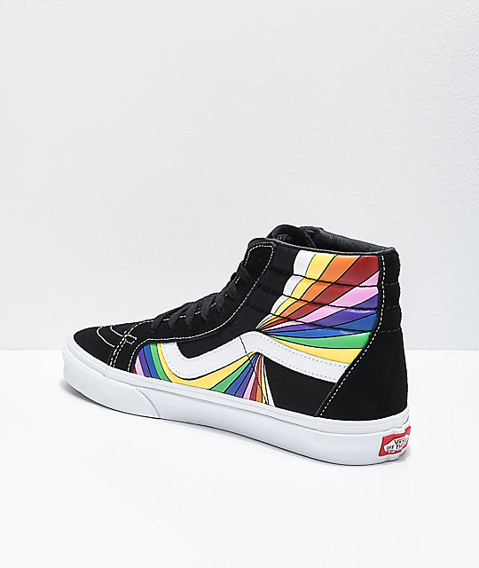 Vans Sk8-Hi Reissue Refract Black, White & Multi Skate Shoes