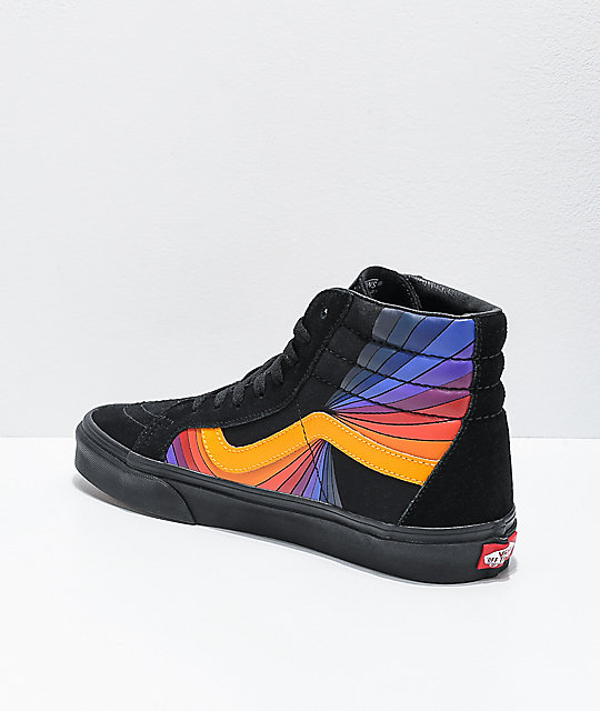 Vans Sk8-Hi Reissue Refract Black & Multi Skate Shoes