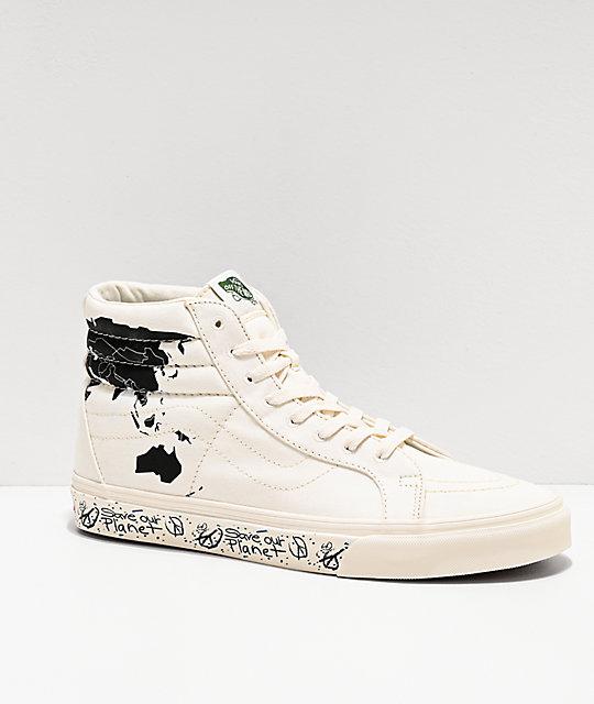 Vans Sk8 Hi Reissue Save Our Planet shoes beige