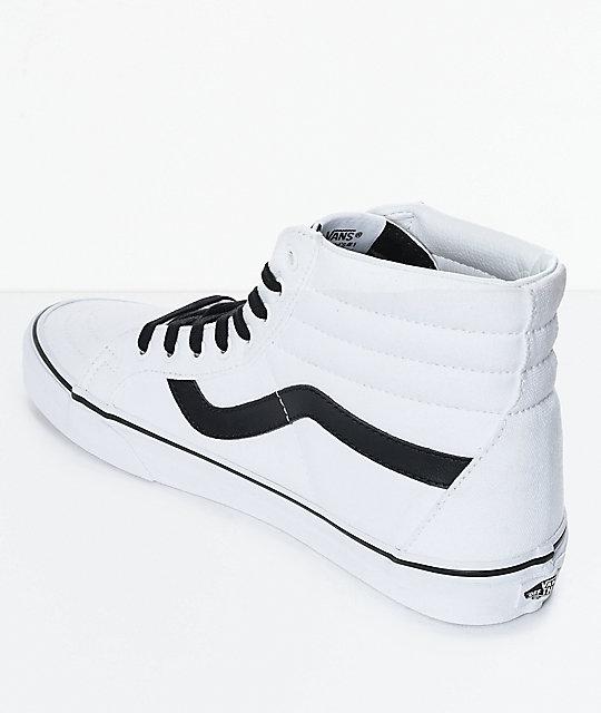 vans white and black