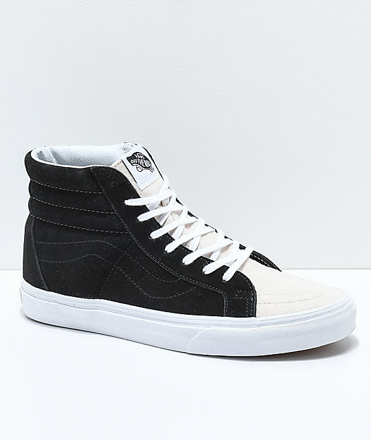fe9885b08dc6 Vans Sk8-Hi Reissue Two Toned Birch   Black Skate Shoes