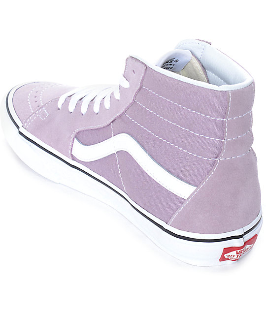 4f08ea7159f629 ... Vans Sk8-Hi Sea Fog   True White Skate Shoes ...