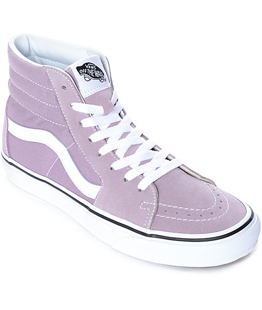 df7d13f571e Vans Sk8-Hi Sea Fog   True White Skate Shoes